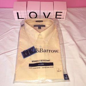 Croft & Barrow Short Sleeve Oxford L 16 1/2-17